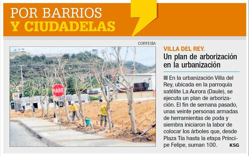 Villa Del Rey Un Plan De Arborizaci N En La Urbanizaci N